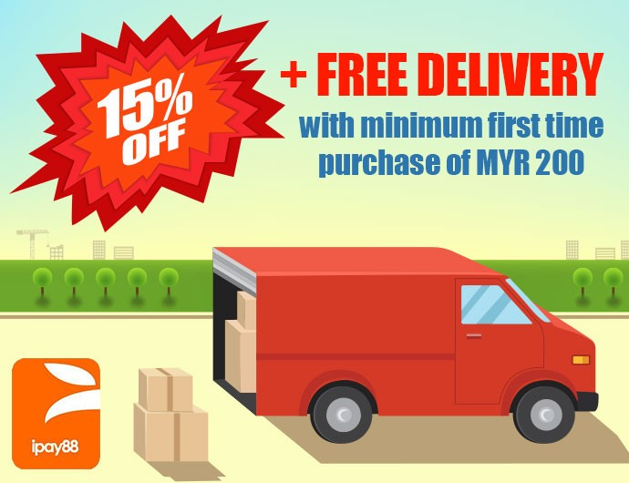 15%OFF + Free Delivery with minimum first time purchase MYR 200